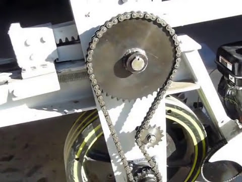 Kinetic baler Flywheel log/wood splitter in detail