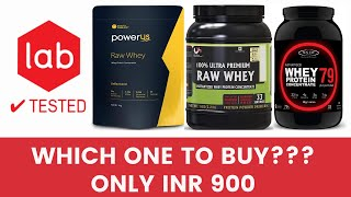 Powerus vs. Sinew vs. Advance muscle mass raw whey protein - which one to BUY??