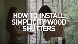 How to Measure for and Install Wooden Plantation Shutters