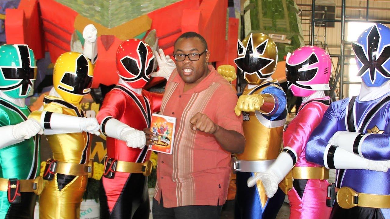 Power rangers rose parade float video game black nerd interview youtube - Power ranger samurai rose ...