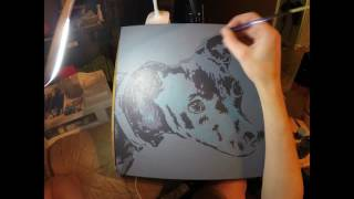 Dog Painting Time Lapse - Raynor