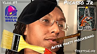 I Am Picasso Jr. | FAMU Painting With A Twist | After Party Mukbang | Vlog #9