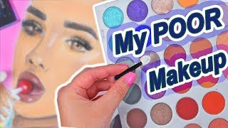DRAWING WITH MY MAKEUP CHALLENGE *win or fail?*