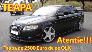 Teapa cu un Audi A4 1.9 TDI 2006 pe OLX 2500€