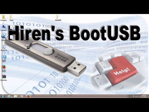 How to run the Hiren's BootCD 15.2 onto a USB Flash Drive