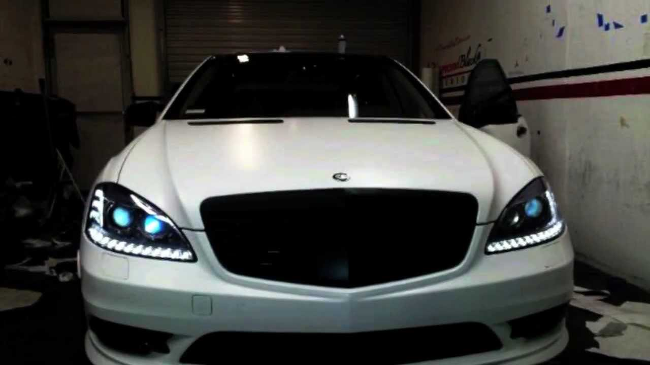 2012 Mercedes Benz S550 Amg Wrapped In Satin White By Dbx Youtube