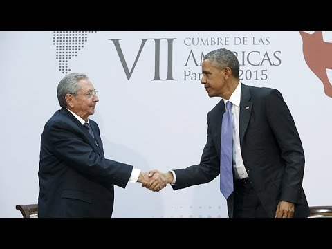 Encuentro histórico entre Raúl Castro y Barack Obama (VERSIÓN COMPLETA)