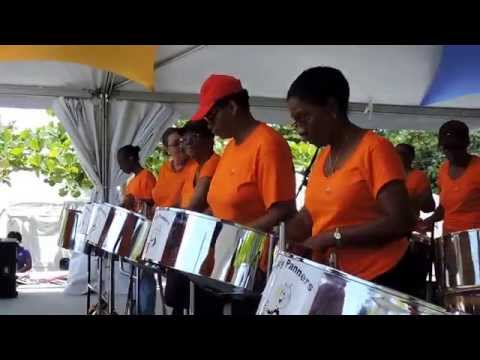Barbados Light & Power Reddy Panners playing at May Day Celebrations 2015