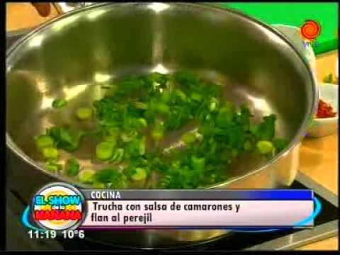 La receta del día Trucha con salsa de camarones y flan al perejil pt3.3gp