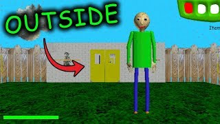 LEAVING THE SCHOOL in Baldi's Basics in Education & Learning... (BALDI'S BASICS HACK)