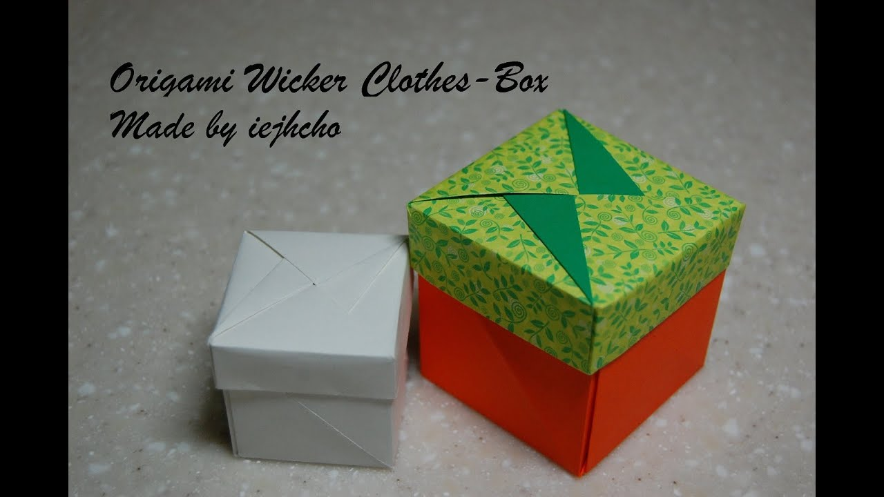 Origami Box(Wicker Clothes Box) Video / 종이접기 상자 접는 방법 동영상 ... - photo#4