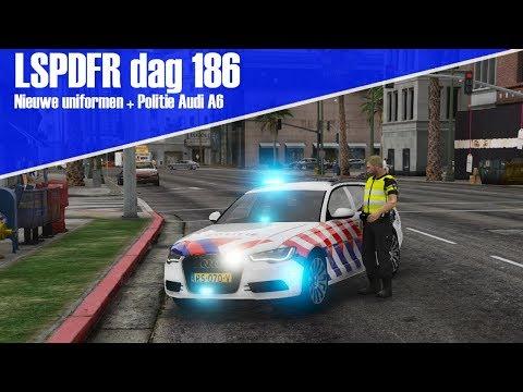 GTA 5 lspdfr dag 186 - Nieuwe uniformen en politie Audi A6!