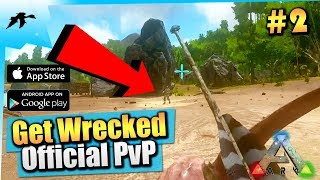 Ark Mobile Ep2| Joining Official PvP/First Raid| Solo Let's Play| IOS/Android Gameplay|EPIC Graphics
