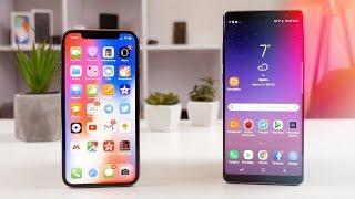 Экран iPhone X против Galaxy Note 8