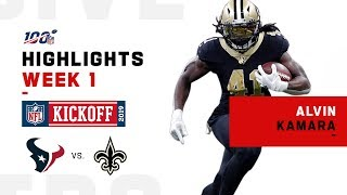 Alvin Kamara Finishes Strong w/ 169-Yd Night! | NFL 2019 Highlights