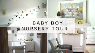 BABY BOY NURSERY ROOM TOUR- TRAVEL/BIRD THEME