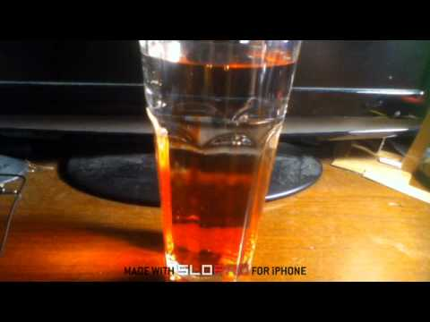 Putting Meo In A Glass Of Water At 500 FPS