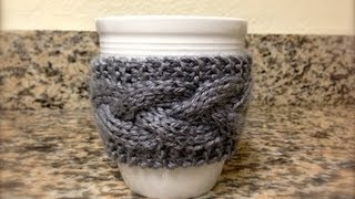 KNITTING TUTORIAL - MUG HOLDER