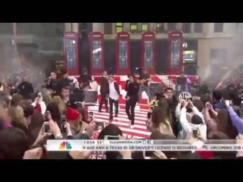 One Direction Performing Kiss You On The Today Show video