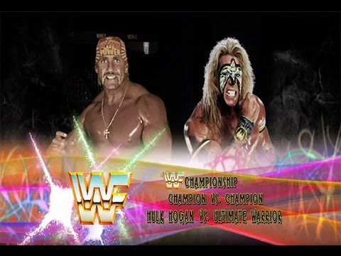 WWE 13: Ultimate Warrior vs Hulk Hogan- Title vs Title.