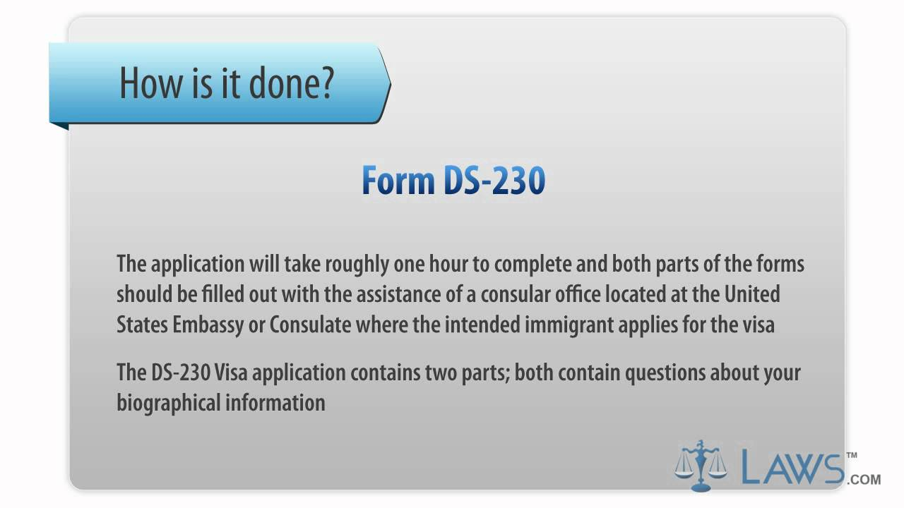 Learn how to fill the form ds 230 application for immigration visa and alien registration youtube