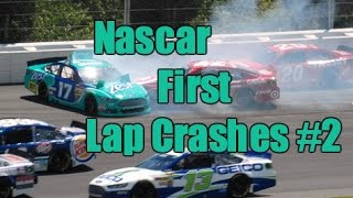 Nascar First Lap Crashes #2
