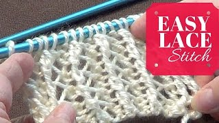 Easy Lace Stitch | One Row Repeat