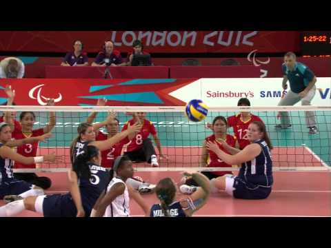 Sitting Volleyball - USA vs CHN - Women's Gold Medal Match - London 2012 Paralympic Games