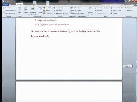 Algunas funciones que nos brinda Microsft Word 2010
