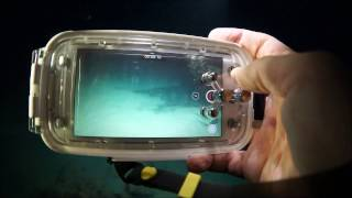 MEIKON 40M/130FT Underwater case for iPhone 7 Plus test night dive