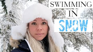 SWIMMING IN SNOW - Vlog