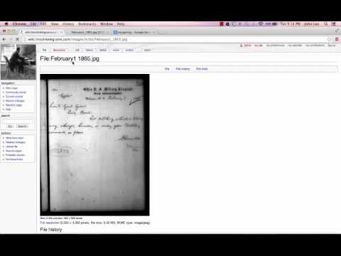 Wiki tutorial - ECI 727 - Lincoln Telegrams