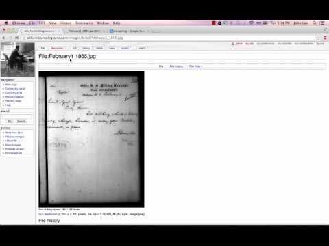 Wiki tutorial - ECI 727 - Lincoln Telegrams