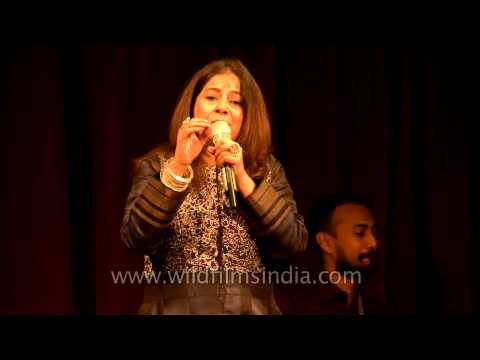 Rekha Bhardwaj singing Vishal Bhardwaj's old composition at Mussoorie Writers' Festival