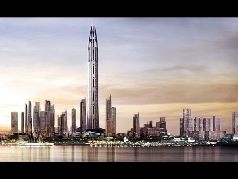 Worlds Tallest Building 2014 1000m/3280feet Nakheel Harbour & Tower klip izle