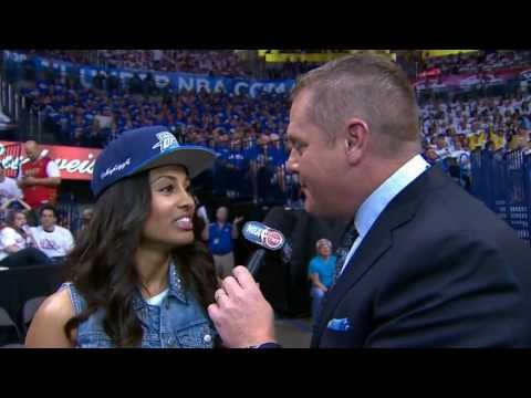 Skylar Diggins Interview at Grizzlies/Thunder Game 2!