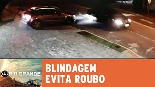 Criminosos desistem de roubar carro blindado - SBT Rio Grande - 29/08/18