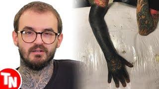 PC Siqueira cobre o brao com tatuagem e  detonado