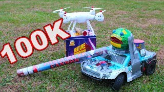Road to 100k Subscribers! - RC Car and Drone VS Fireworks - TheRcSaylors