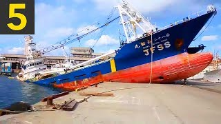 Top 5 Ship Docking Fails - Boats VS Land