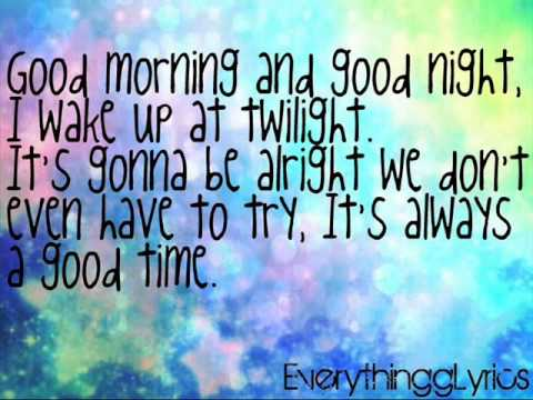 Owl City Ft. Carly Rae Jepsen - Good Time Lyrics video