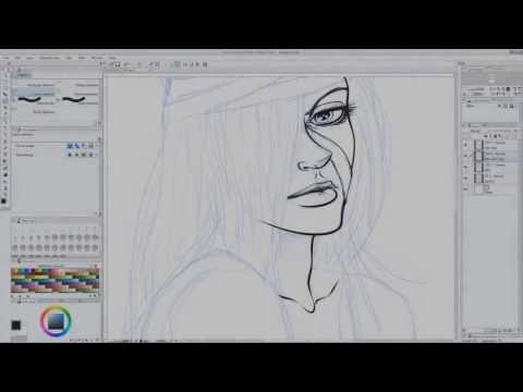 Inking Lucy (Elfen Lied) in Manga Studio 5