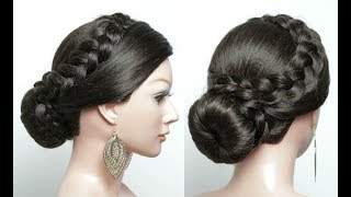 Beautiful Hairstyles for Function: Easy Wedding Hairstyle. Bridal Updo
