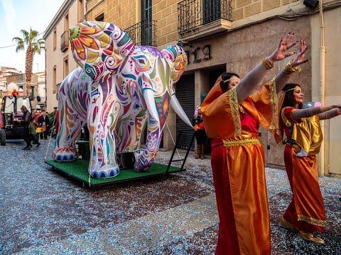 Elefant inflable rua de carnestoltes