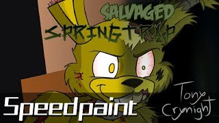 Salvaged Springtrap (Tony Crynight) - Speedpaint