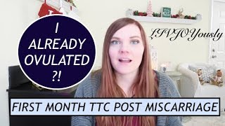 FIRST CYCLE TTC AFTER MISCARRIAGE | MY TTC JOURNEY