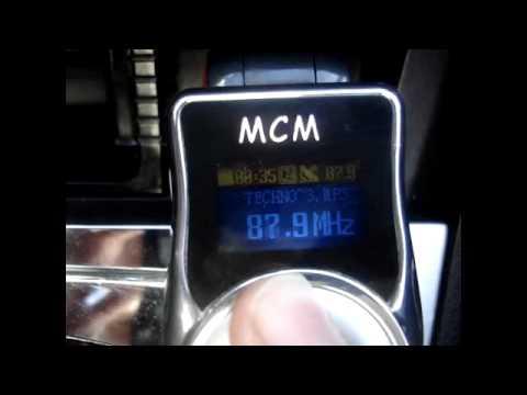 Красный автомобильный FM Transmitter смотреть на Ютуб видео бесплатно