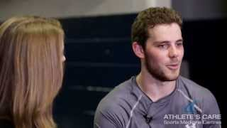 Tyler Seguin of the Dallas Stars talks with Athlete