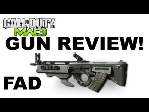 MW3 - FAD Assault Rifle Gun Review   Just like the TAR21 from MW2?! 55-7 Kill Confirmed