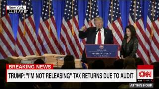 "Trump Skewers a Reporter Questioning His Tax Returns Who Said ""Americans Want To Know"""